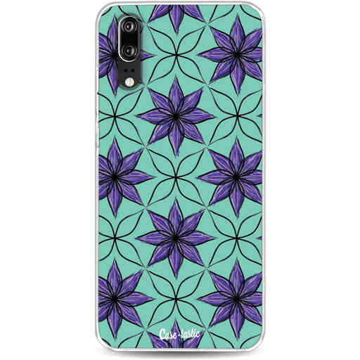 Casetastic Softcover Huawei P20 - Statement Flowers Purple
