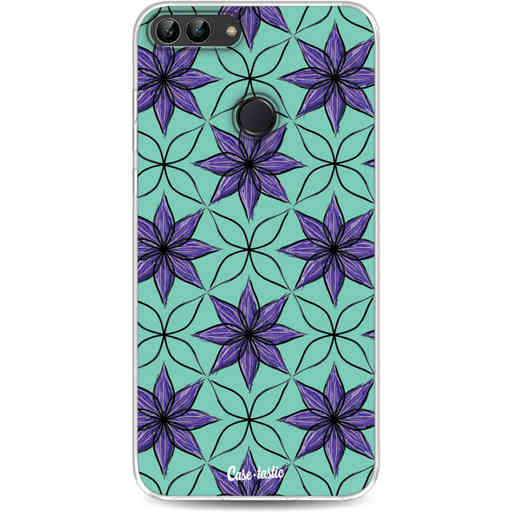 Casetastic Softcover Huawei P Smart - Statement Flowers Purple