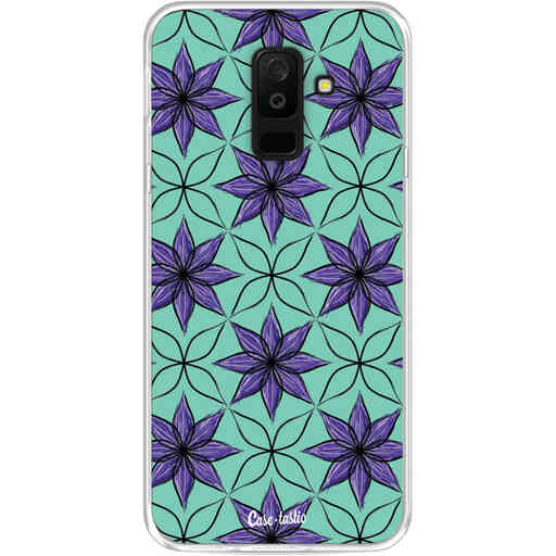 Casetastic Softcover Samsung Galaxy A6 Plus (2018) - Statement Flowers Purple