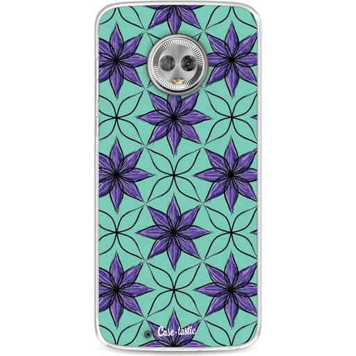 Casetastic Softcover Motorola Moto G6 - Statement Flowers Purple