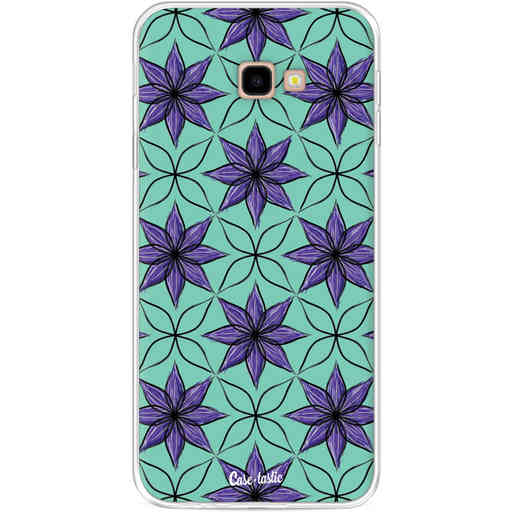 Casetastic Softcover Samsung Galaxy J4 Plus (2018) - Statement Flowers Purple