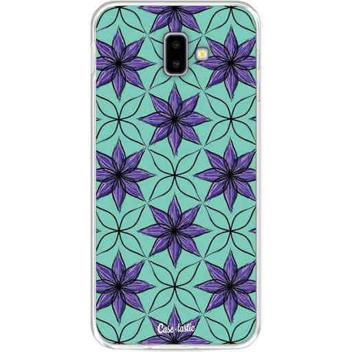 Casetastic Softcover Samsung Galaxy J6 Plus (2018) - Statement Flowers Purple