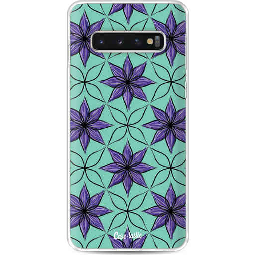 Casetastic Softcover Samsung Galaxy S10 - Statement Flowers Purple