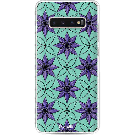 Casetastic Softcover Samsung Galaxy S10 Plus - Statement Flowers Purple