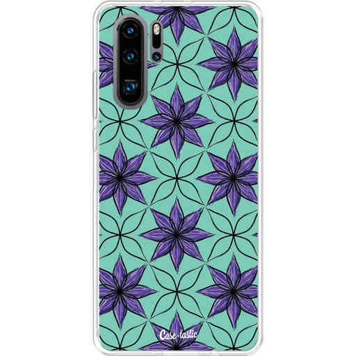 Casetastic Softcover Huawei P30 PRO - Statement Flowers Purple