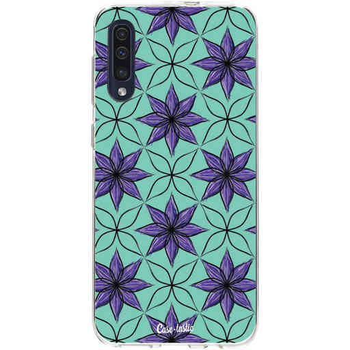 Casetastic Softcover Samsung Galaxy A50 (2019) - Statement Flowers Purple