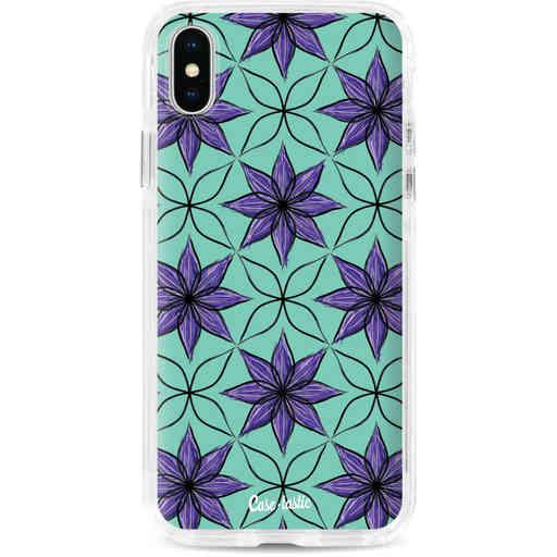 Casetastic Dual Snap Case Apple iPhone X / XS - Statement Flowers Purple