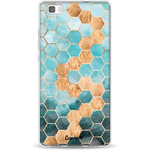 Casetastic Softcover Huawei P8 Lite - Honeycomb Art Blue