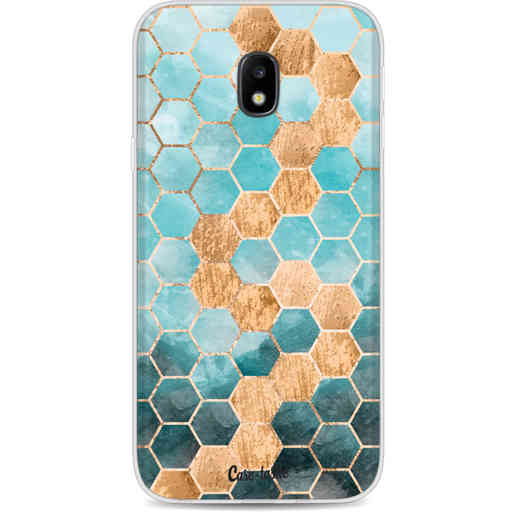 Casetastic Softcover Samsung Galaxy J3 (2017)  - Honeycomb Art Blue
