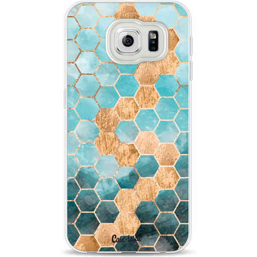 Casetastic Softcover Samsung Galaxy S6 - Honeycomb Art Blue