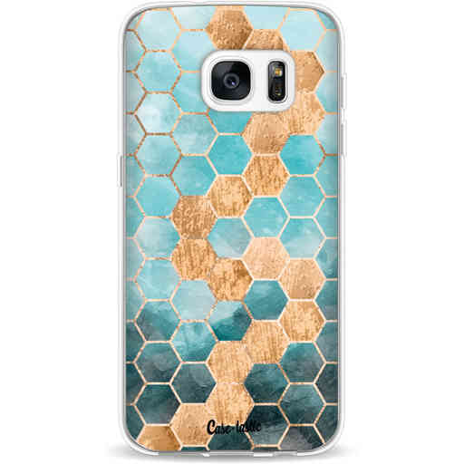Casetastic Softcover Samsung Galaxy S7 - Honeycomb Art Blue