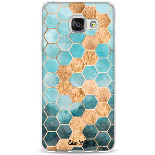 Casetastic Softcover Samsung Galaxy A3 (2016) - Honeycomb Art Blue