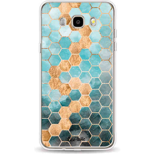 Casetastic Softcover Samsung Galaxy J5 (2016) - Honeycomb Art Blue