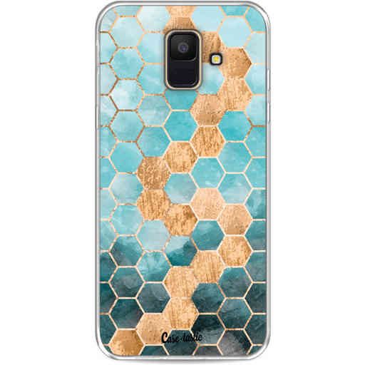 Casetastic Softcover Samsung Galaxy A6 (2018) - Honeycomb Art Blue