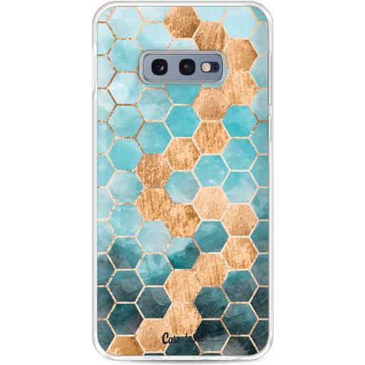 Casetastic Softcover Samsung Galaxy S10e - Honeycomb Art Blue