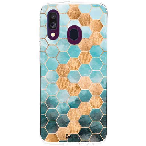 Casetastic Softcover Samsung Galaxy A40 (2019) - Honeycomb Art Blue