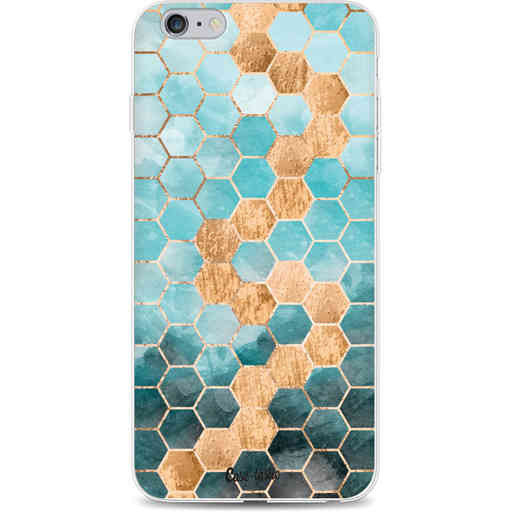 Casetastic Softcover Apple iPhone 6 Plus / 6s Plus - Honeycomb Art Blue