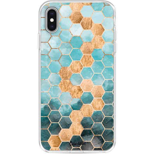 Casetastic Softcover Apple iPhone XS Max - Honeycomb Art Blue