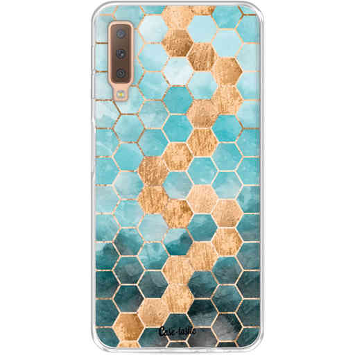 Casetastic Softcover Samsung Galaxy A7 (2018) - Honeycomb Art Blue