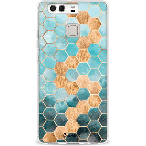 Casetastic Softcover Huawei P9 - Honeycomb Art Blue