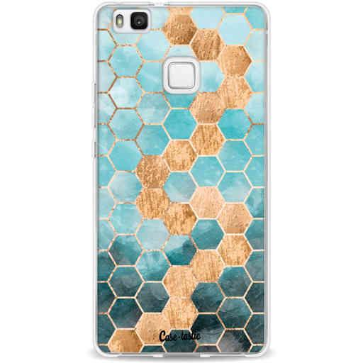 Casetastic Softcover Huawei P9 Lite - Honeycomb Art Blue