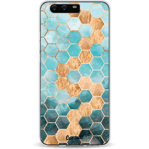 Casetastic Softcover Huawei P10 - Honeycomb Art Blue