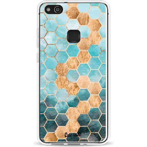 Casetastic Softcover Huawei P10 Lite - Honeycomb Art Blue