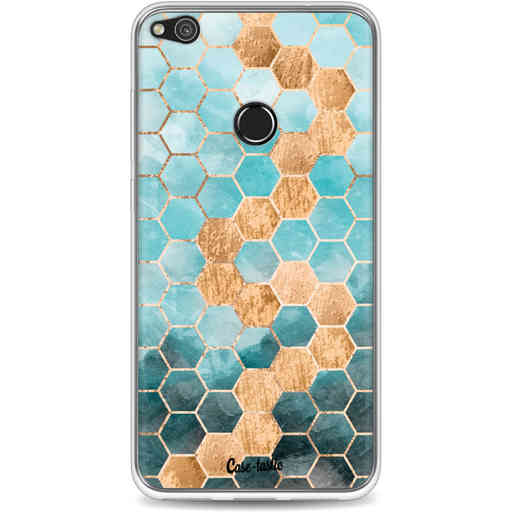 Casetastic Softcover Huawei P8 Lite (2017) - Honeycomb Art Blue