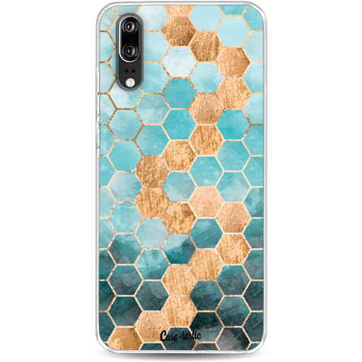 Casetastic Softcover Huawei P20 - Honeycomb Art Blue
