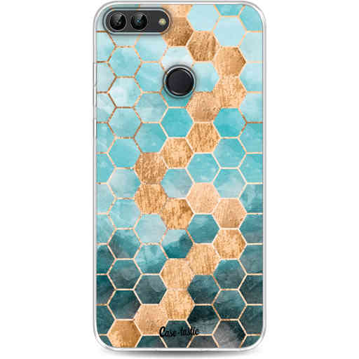 Casetastic Softcover Huawei P Smart - Honeycomb Art Blue