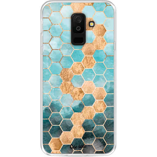Casetastic Softcover Samsung Galaxy A6 Plus (2018) - Honeycomb Art Blue