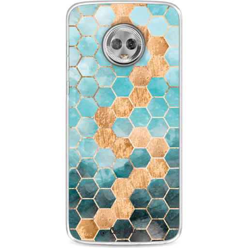 Casetastic Softcover Motorola Moto G6 - Honeycomb Art Blue