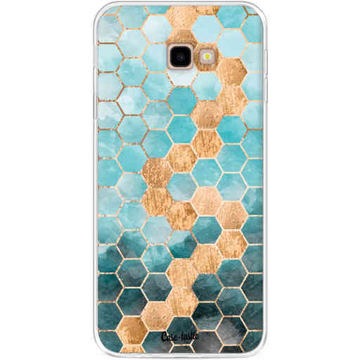 Casetastic Softcover Samsung Galaxy J4 Plus (2018) - Honeycomb Art Blue