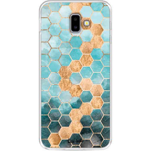 Casetastic Softcover Samsung Galaxy J6 Plus (2018) - Honeycomb Art Blue