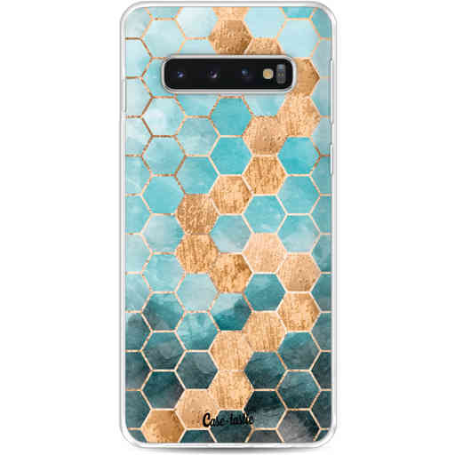 Casetastic Softcover Samsung Galaxy S10 - Honeycomb Art Blue