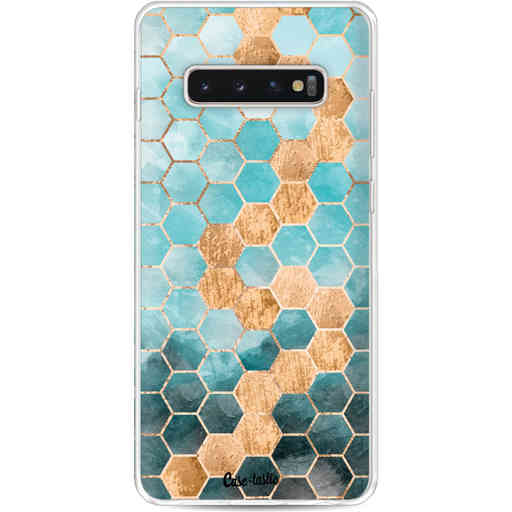 Casetastic Softcover Samsung Galaxy S10 Plus - Honeycomb Art Blue