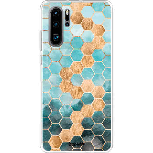 Casetastic Softcover Huawei P30 PRO - Honeycomb Art Blue