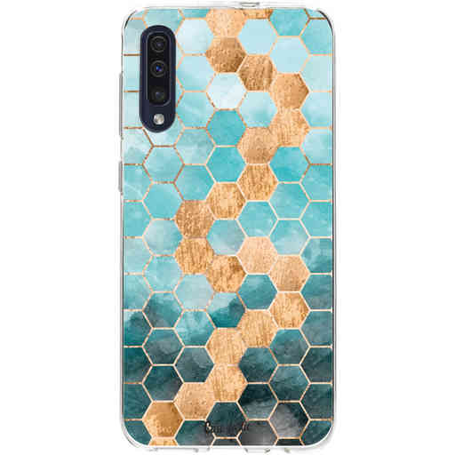 Casetastic Softcover Samsung Galaxy A50 (2019) - Honeycomb Art Blue