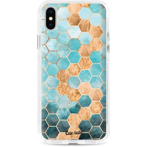 Casetastic Dual Snap Case Apple iPhone X / XS - Honeycomb Art Blue