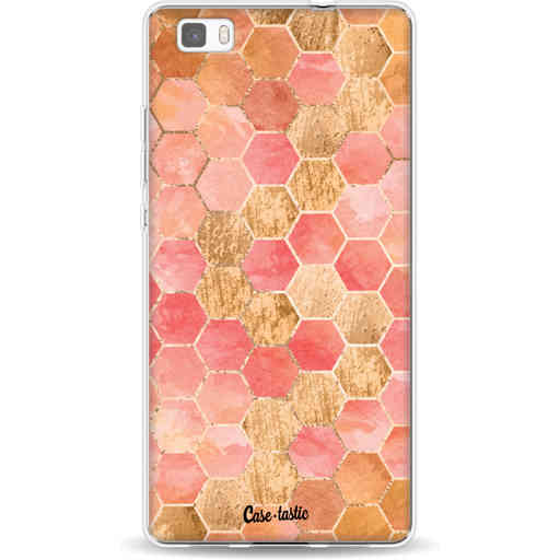 Casetastic Softcover Huawei P8 Lite - Honeycomb Art Coral