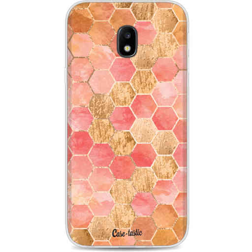 Casetastic Softcover Samsung Galaxy J3 (2017)  - Honeycomb Art Coral