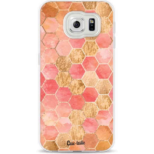 Casetastic Softcover Samsung Galaxy S6 - Honeycomb Art Coral