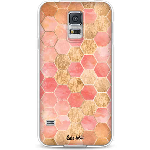 Casetastic Softcover Samsung Galaxy S5  - Honeycomb Art Coral