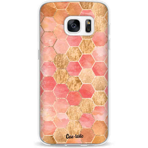 Casetastic Softcover Samsung Galaxy S7 - Honeycomb Art Coral