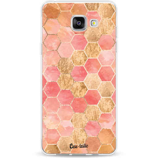 Casetastic Softcover Samsung Galaxy A5 (2016) - Honeycomb Art Coral