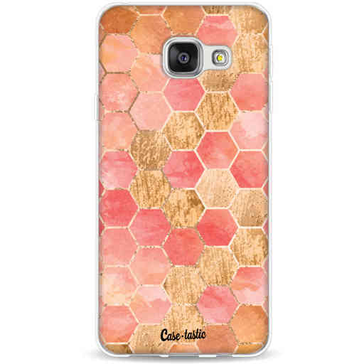 Casetastic Softcover Samsung Galaxy A3 (2016) - Honeycomb Art Coral