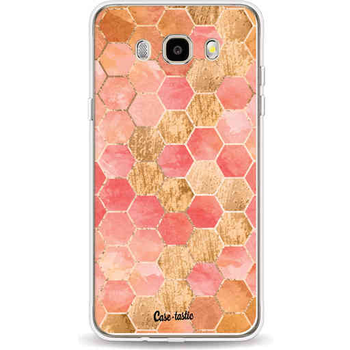 Casetastic Softcover Samsung Galaxy J5 (2016) - Honeycomb Art Coral