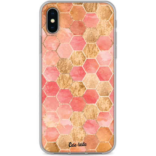 Casetastic Softcover Apple iPhone X / XS - Honeycomb Art Coral