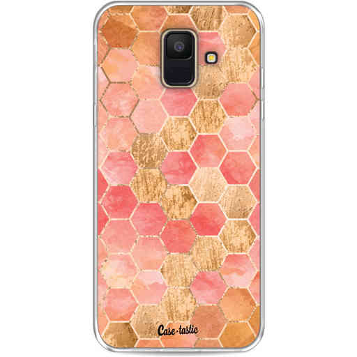Casetastic Softcover Samsung Galaxy A6 (2018) - Honeycomb Art Coral