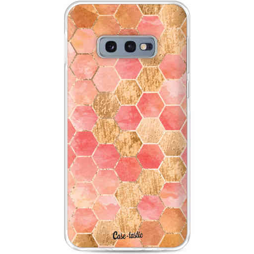 Casetastic Softcover Samsung Galaxy S10e - Honeycomb Art Coral